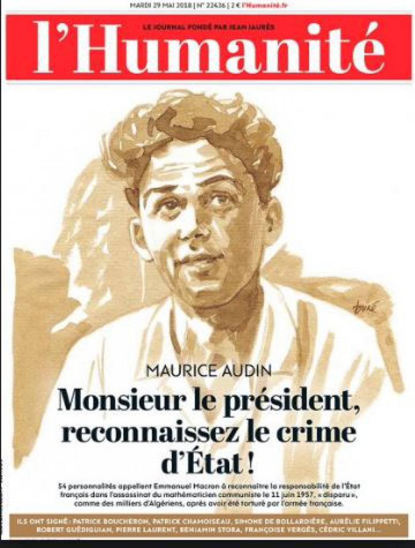 MAURICE AUDIN : une victoire pour la justice la démocratie, la vérité