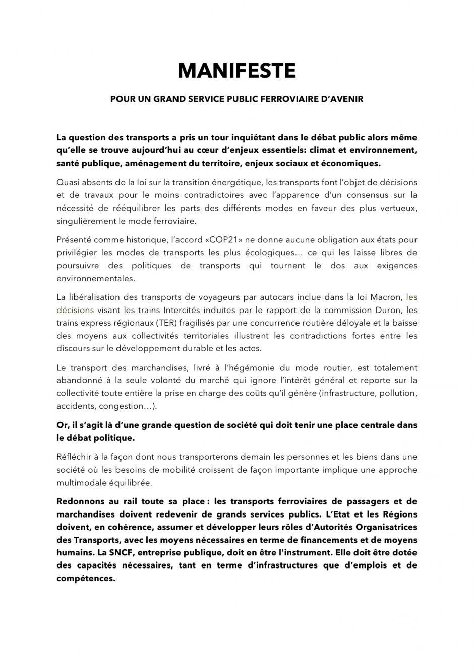 SERVICE FERROVIAIRE : LE DECLIN PROGRAMME !